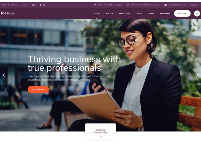 Ideahub – Premium Responsive Modern Business WordPress Theme
