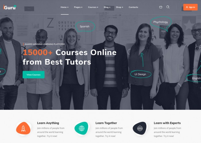 iGuru – Premium Responsive Education & Courses WordPress Theme