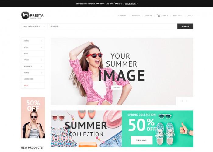 Impresta – Premium Responsive Fashion PrestaShop Theme