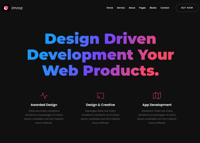 Imroz – Premium Responsive React Agency & Portfolio HTML5 Template