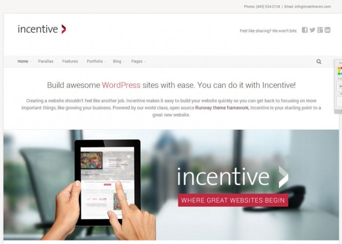 Incentive – Premium Responsive WordPress Theme