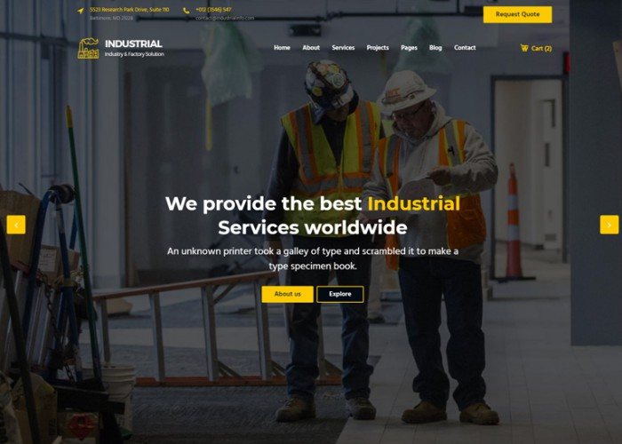 Industrial – Premium Responsive Engineering HTML5 Template