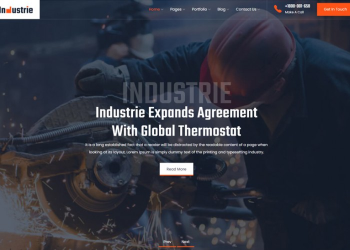 Industrie – Premium Responsive Industry WordPress Theme