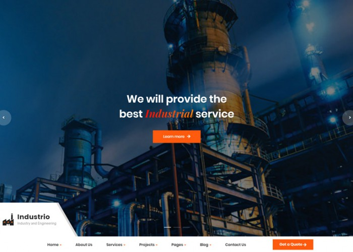 Industrio – Premium Responsive Industrial Engineering WordPress Theme