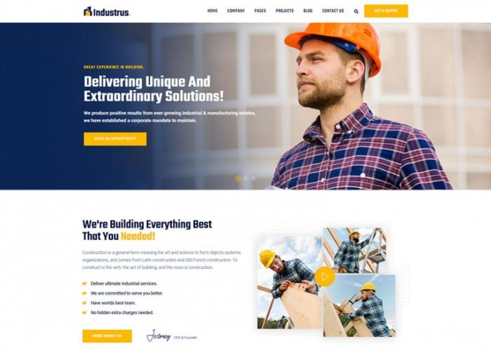 Industrus – Premium Responsive Construction WordPress Theme