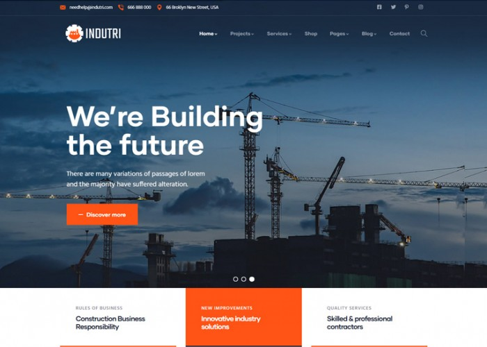 Indutri – Premium Responsive Factory & Industrial WordPress Theme