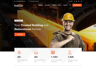 Induxo – Premium Responsive Factory & Industrial WordPress Theme
