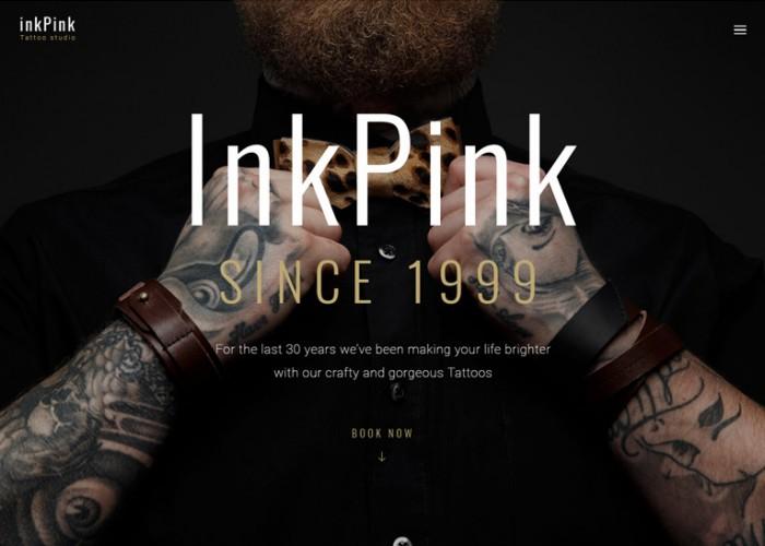 InkPink – Premium Responsive Tattoo Studio WordPress Theme