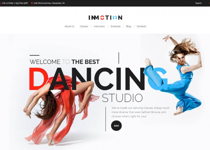 InMotion – Premium Responsive Dance School WordPress Theme