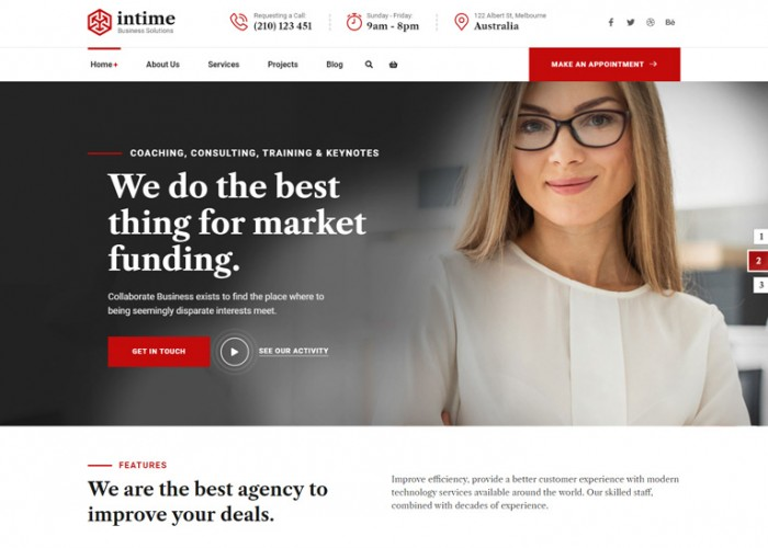 Intime – Premium Responsive Business Consulting WordPress Theme