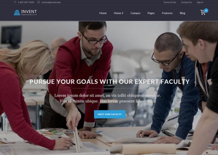 Invent – Premium Responsive Education Course College WordPress Theme