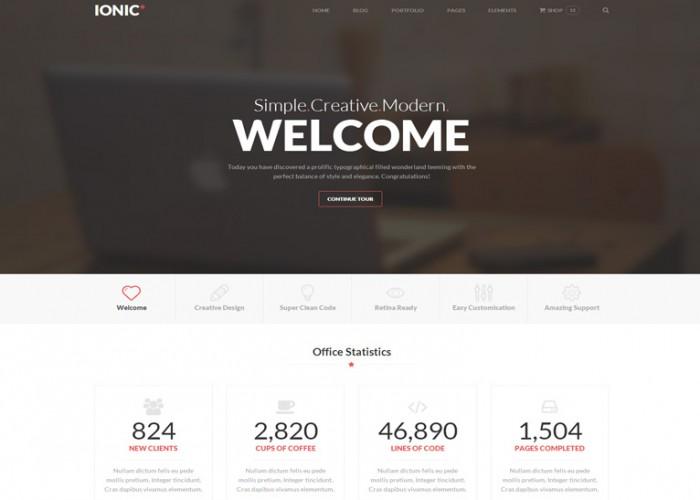 Ionic – Premium Responsive HTML5 Template