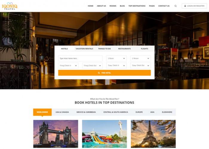 Iqoniq – Premium Responsive Travel HTML5 Template