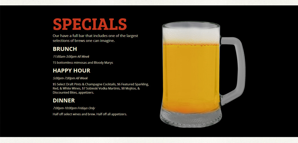 Specials Section