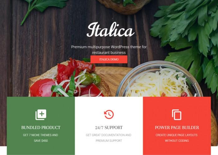 Italica – Premium Responsive Multipurpose Restaurant WordPress Theme