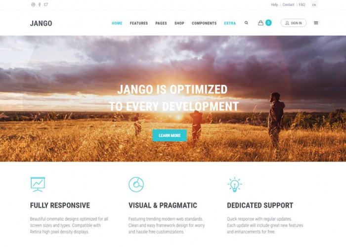 Jango – Premium Responsive Highly Flexible Component Based Drupal Theme