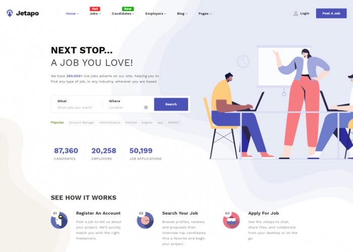 Jetapo – Premium Responsive Job Board WordPress Theme