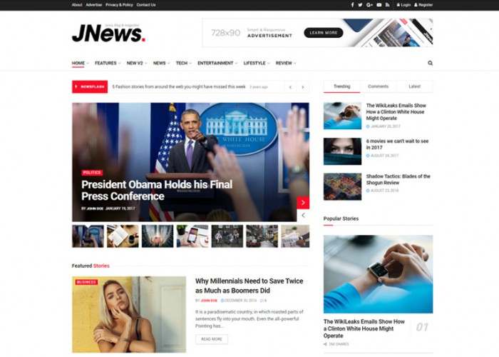 JNews – Premium Responsive Magazine Blog WordPress Theme