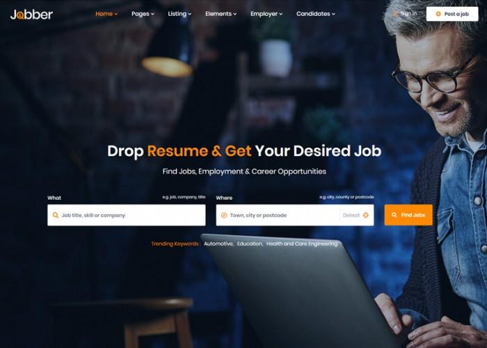 Jobber – Premium Responsive Job Board HTML5 Template