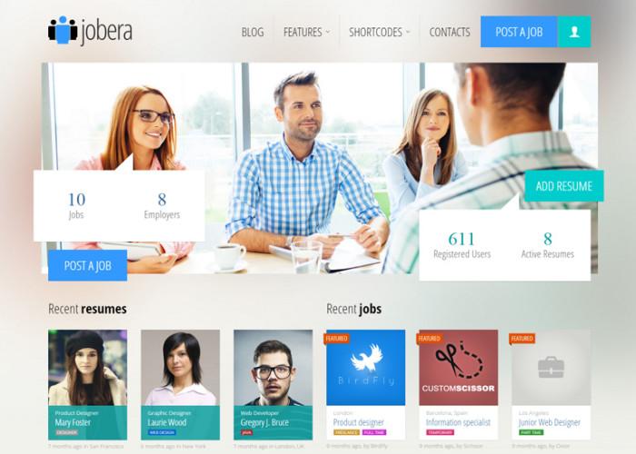 Jobera – Premium Responsive Job Portal WordPress Theme