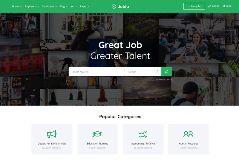 jobhunt html template  JobHunt - Premium Responsive Job Board HTML5 Template