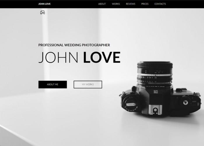 John Love – Premium Responsive Creative Portfolio Muse Template