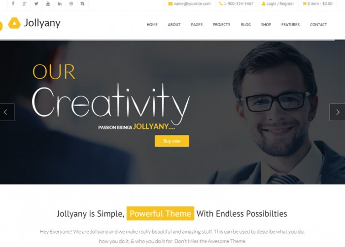 Jollyany – Premium Responsive Corporate Multipurpose HTML5 Template
