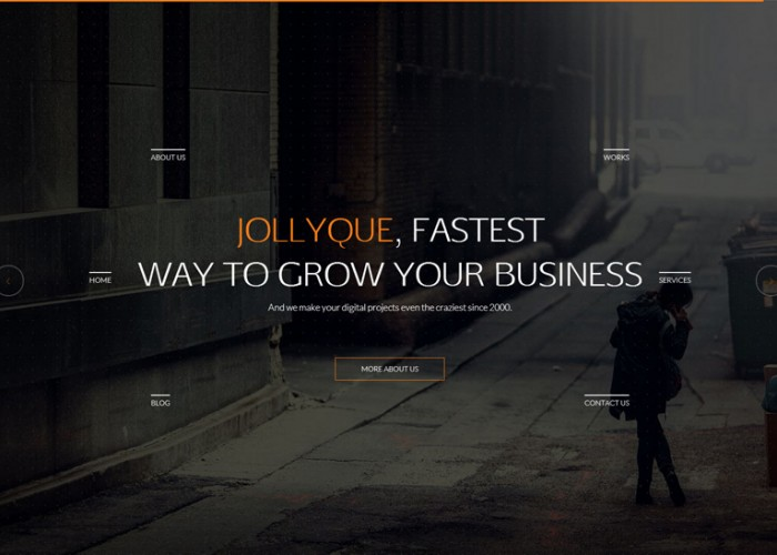 Jollyque – Premium Responsive Onepage HTML5 Template