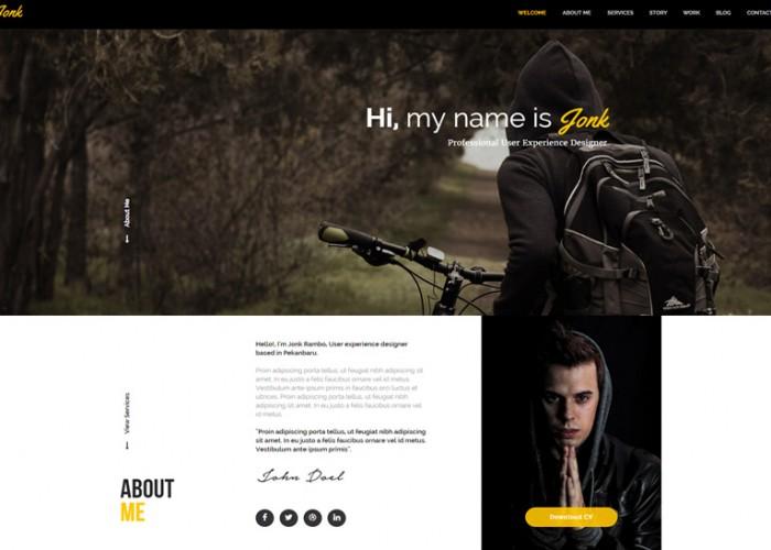 JONK – Premium CV Resume Personal Muse Template