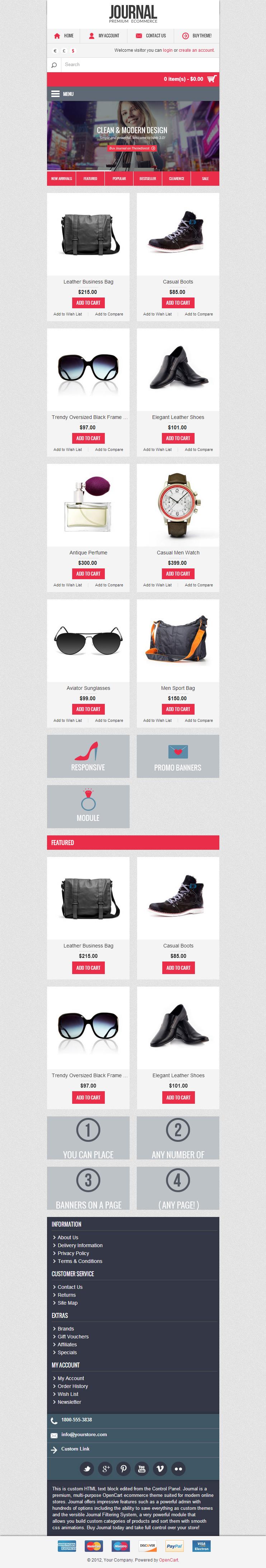 Journal – Premium Responsive OpenCart Theme - ThemeForest Free Demo