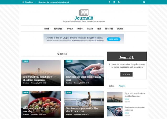 Journal8 – Premium Responsive Mobile-First Drupal 8 Theme