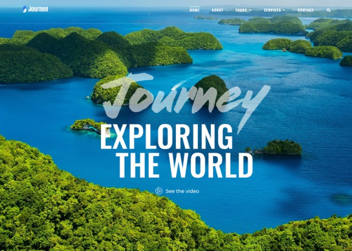 Journeo – Premium Responsive Travel Agency WordPress Theme