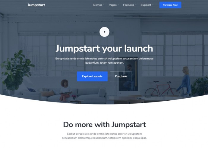 Jumpstart – Premium Responsive App and Software HTML5 Template