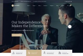 Juristic – Premium Responsive Lawyer & Attorney WordPress Theme