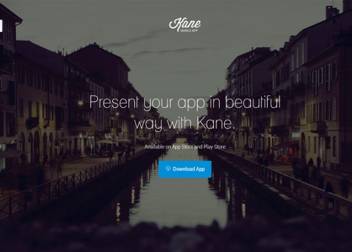 Kane – Premium Responsive App Landing Page HTML5 Template