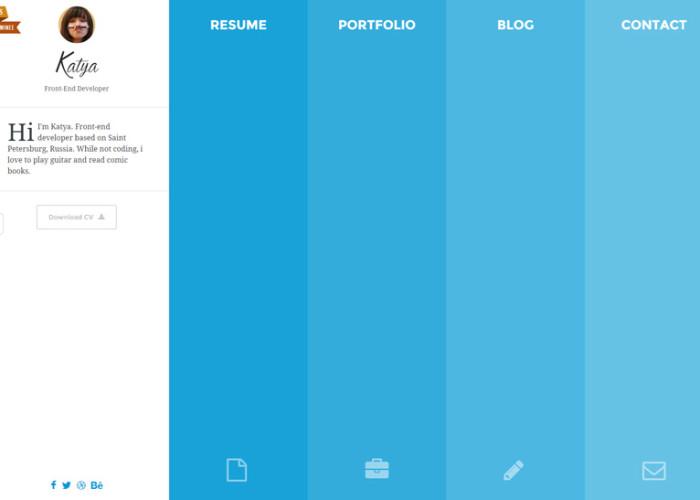 Katya – Premium Responsive Creative CV HTML5 Template