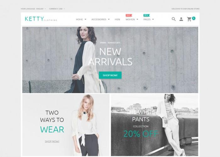 Ketty – Premium Responsive Fashion Clothes Store Magento Theme