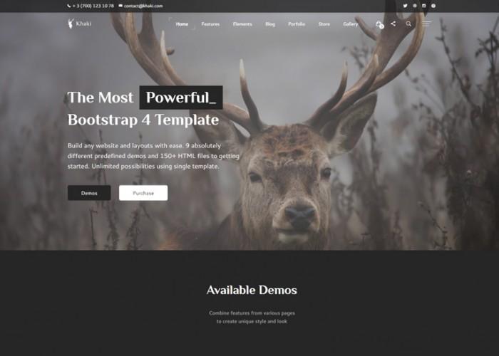 Khaki – Premium Responsive Multi-Concept Bootstrap 4 HTML5 Template