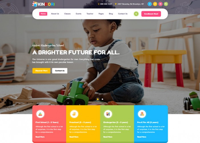 Kindori – Premium Responsive School Kindergarten WordPress Theme