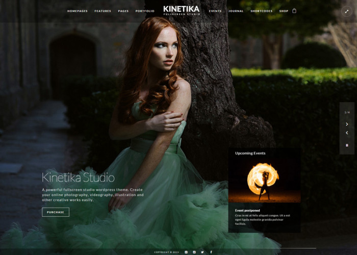 Kinetika – Premium Responsive Fullscreen Photography WordPress Theme