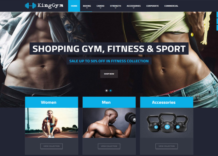 Kinggym – Premium Responsive Fitness, Gym and Sport Magento Theme