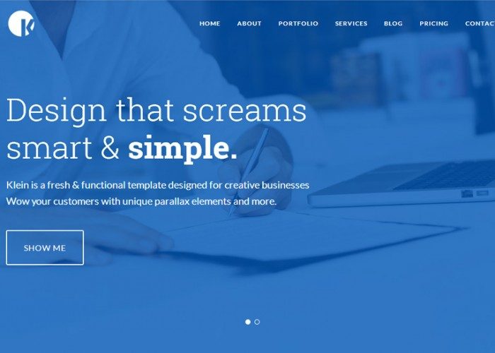 Klein – Premium Responsive One Page Parallax HTML5 Template