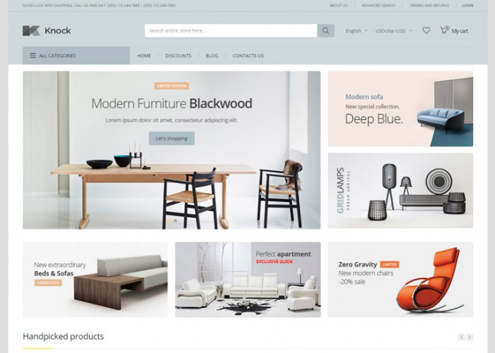 Knock – Premium Responsive MultiPurpose Magento 1 and 2 Theme