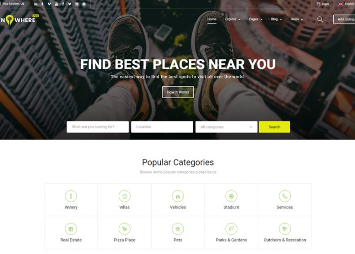 Knowhere Pro – Premium Responsive Multipurpose Directory WordPress Theme