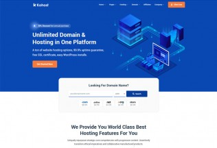 Kohost – Premium Responsive Web Hosting & WHMCS HTML5 Template