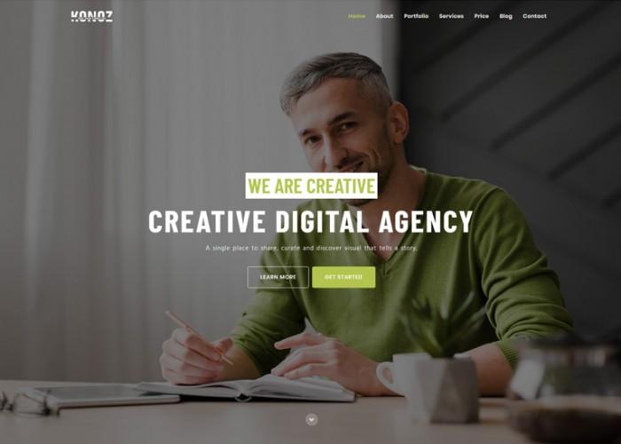 Konoz – Premium Responsive One Page Parallax HTML5 Template