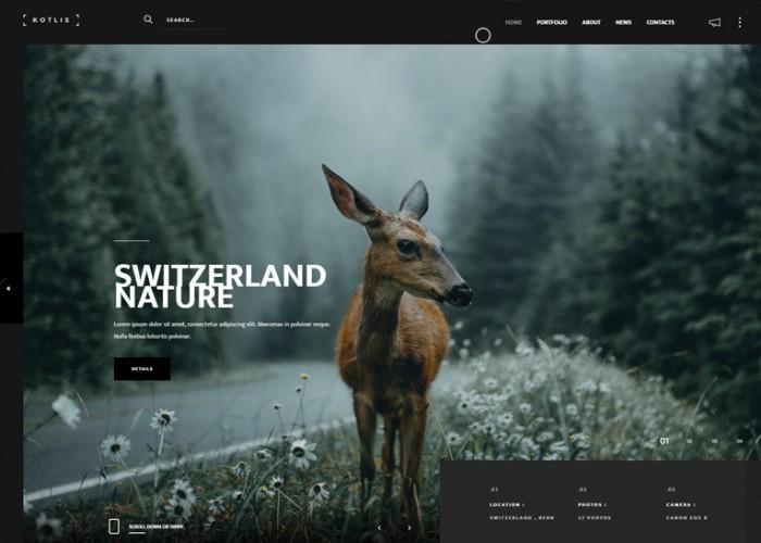 Kotlis – Premium Responsive Photography Portfolio HTML5 Theme