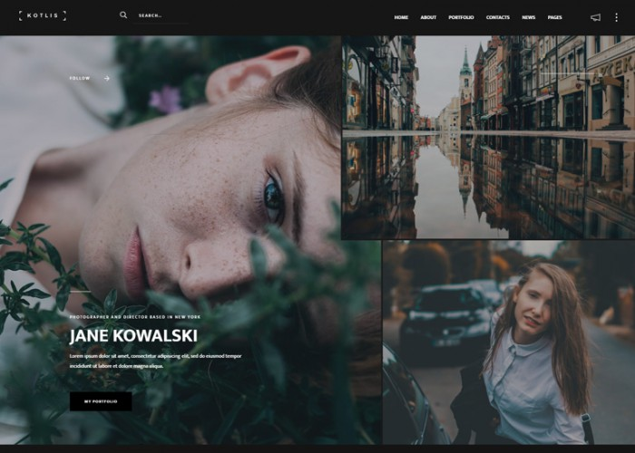 Kotlis – Premium Responsive Photography Portfolio WordPress Theme