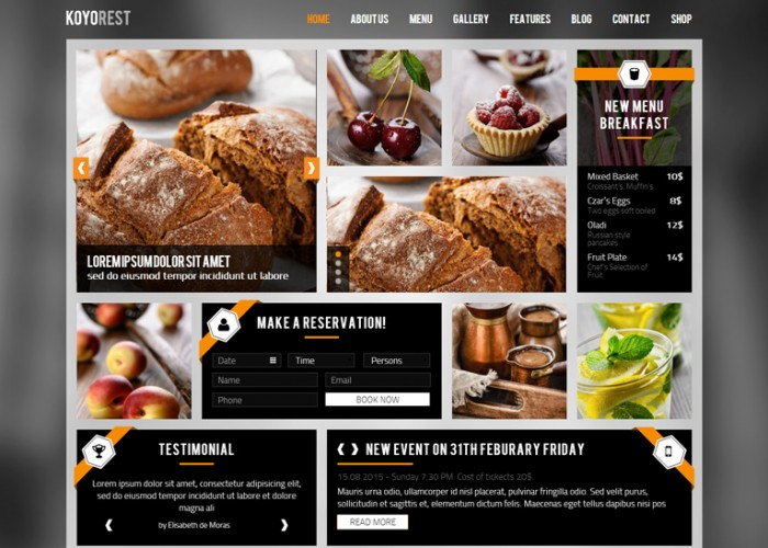 Koyorest – Premium Responsive Retina Restaurant WordPress Theme