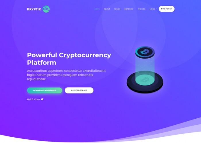 KrypLab – Premium Responsive Bitcoin & Cryptocurrency HTML5 Template